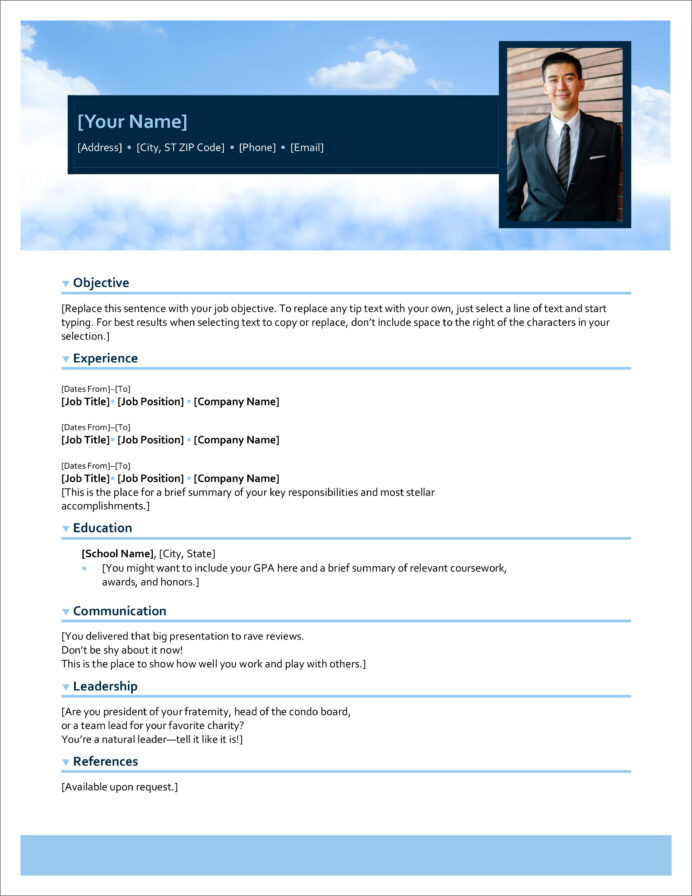 free modern resume cv templates minimalist simple clean design of microsoft employee Resume Resume Of Microsoft Employee