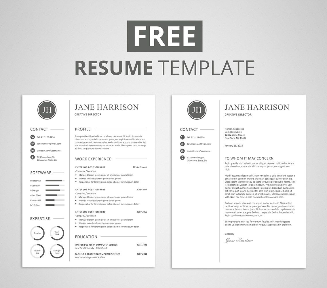 free modern resume template that comes with matching cover letter for and templates armed Resume Free Matching Cover Letter And Resume Templates