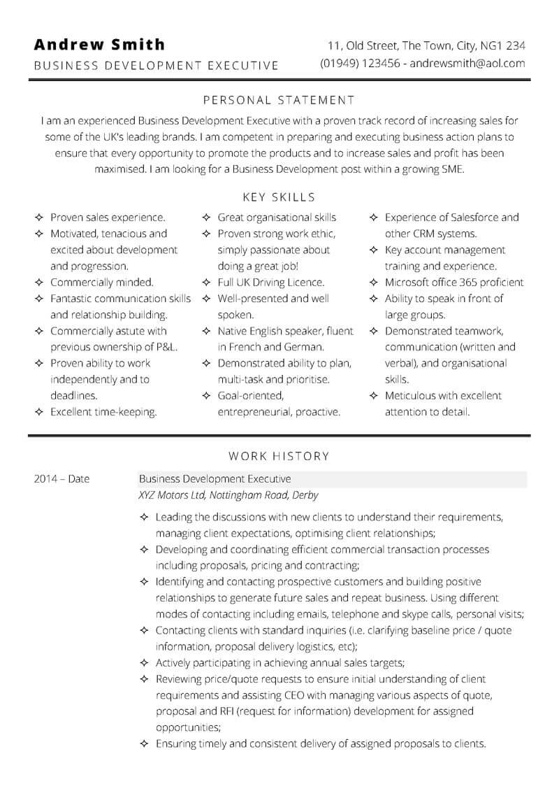 free professional microsoft word cv templates to one or two resume business development Resume One Or Two Page Resume 2019