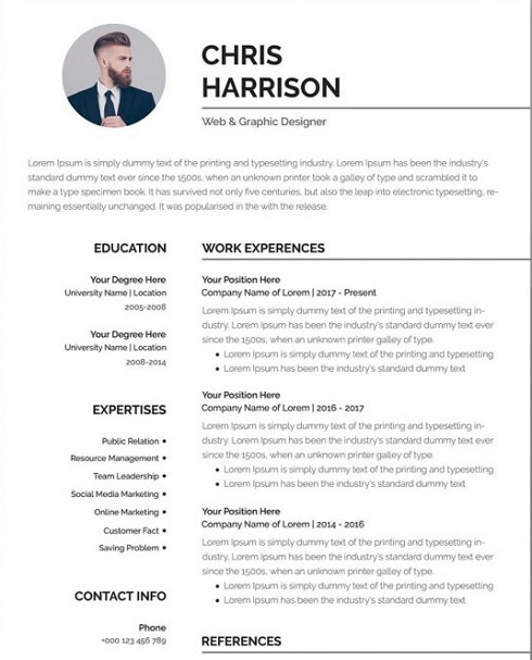 free professional resume template in word format cv share 1000x750 work from home Resume Professional Resume Template Free