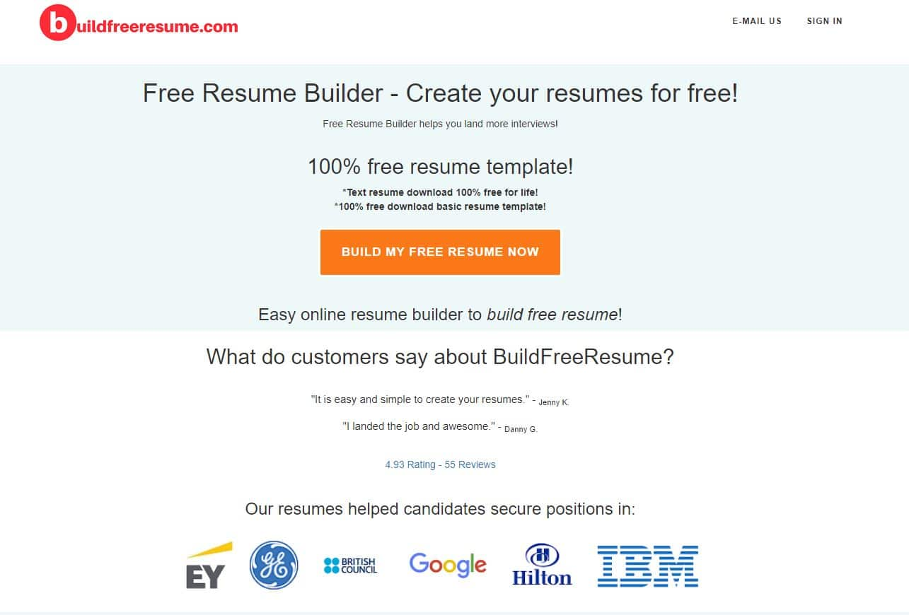 free resume builder for build best websites meteorologist customer service summary Resume Best Resume Builder Websites