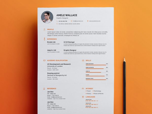 free resume cv templates in photohsp format photoshop template 600x450 sample Resume Free Resume Photoshop Templates
