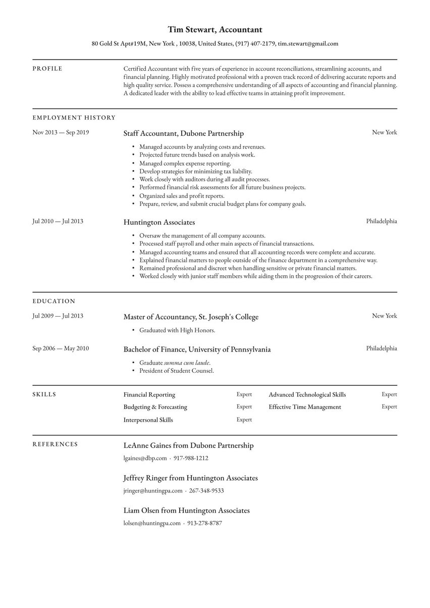 free resume examples by industry job full guides io with one history teacher objectives Resume Resume With One Job History