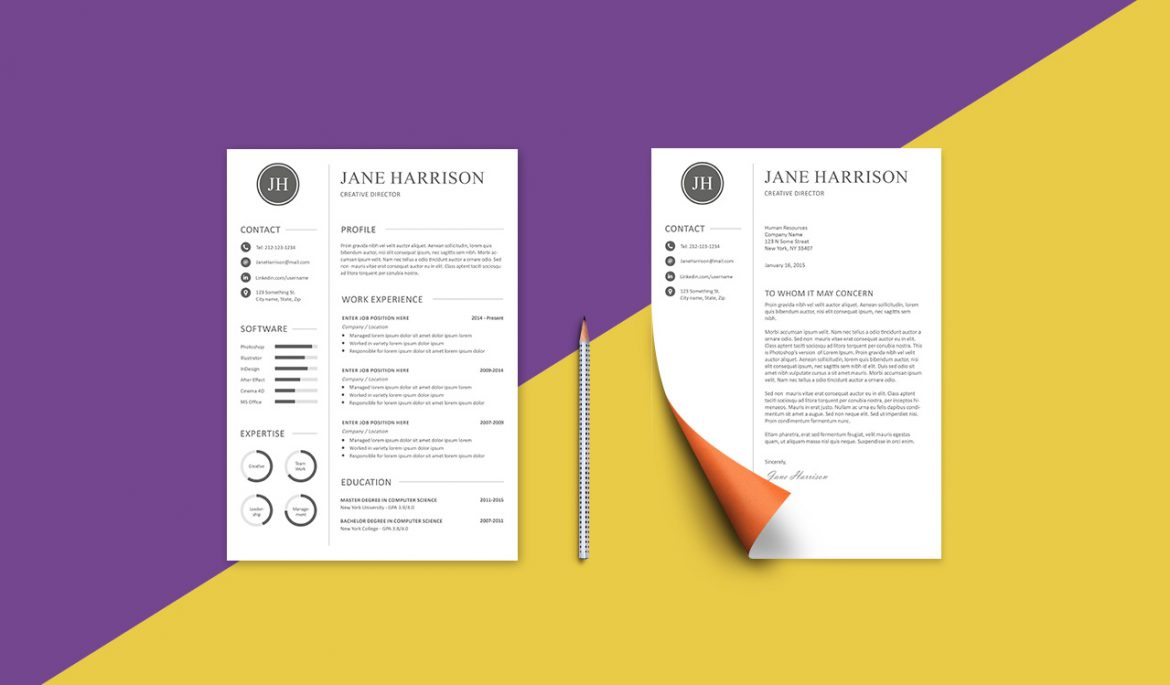 free resume template and cover letter graphicadi unique 1170x685 catchy summary for Resume Unique Resume Cover Letter