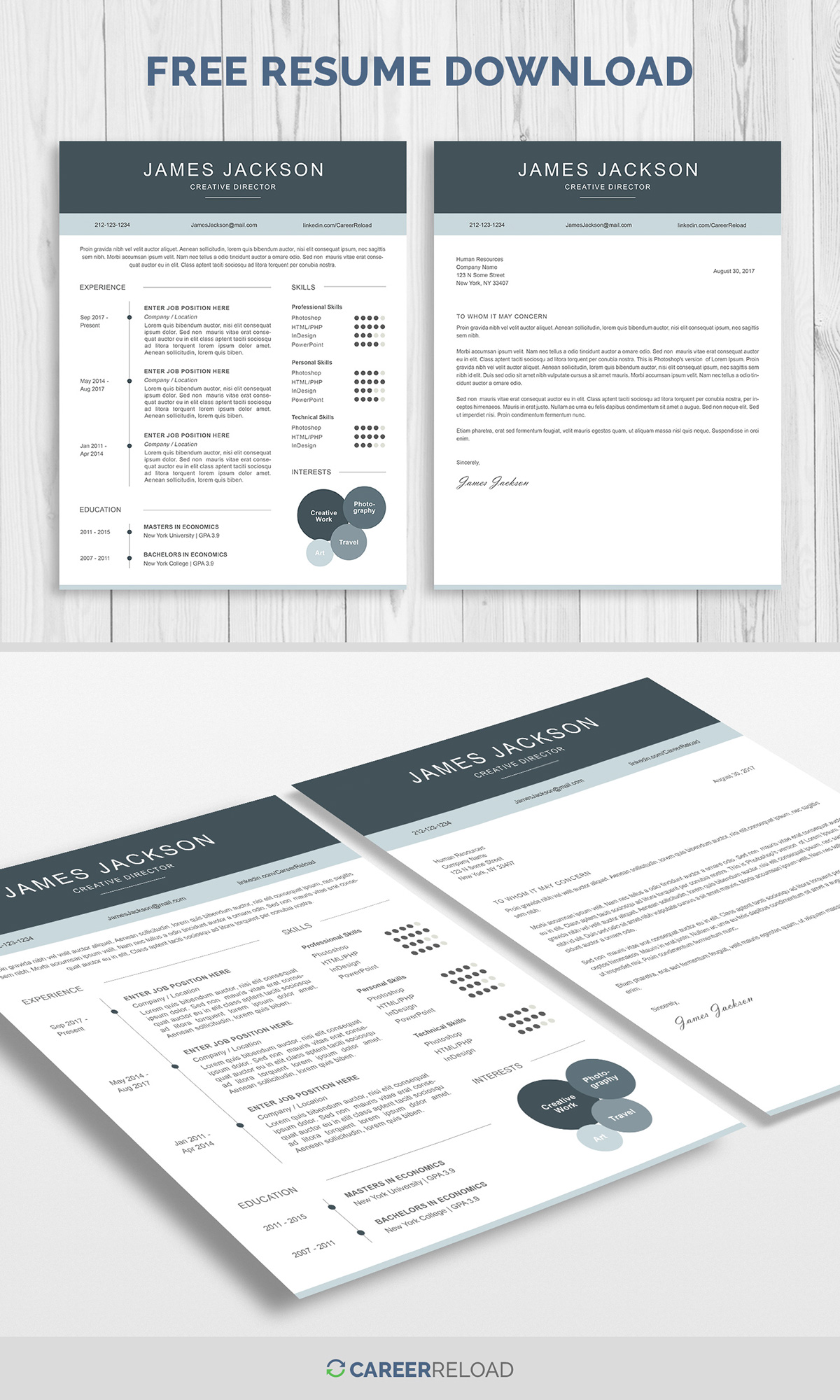 free resume template and cover letter on pantone canvas gallery matching templates apply Resume Free Matching Cover Letter And Resume Templates