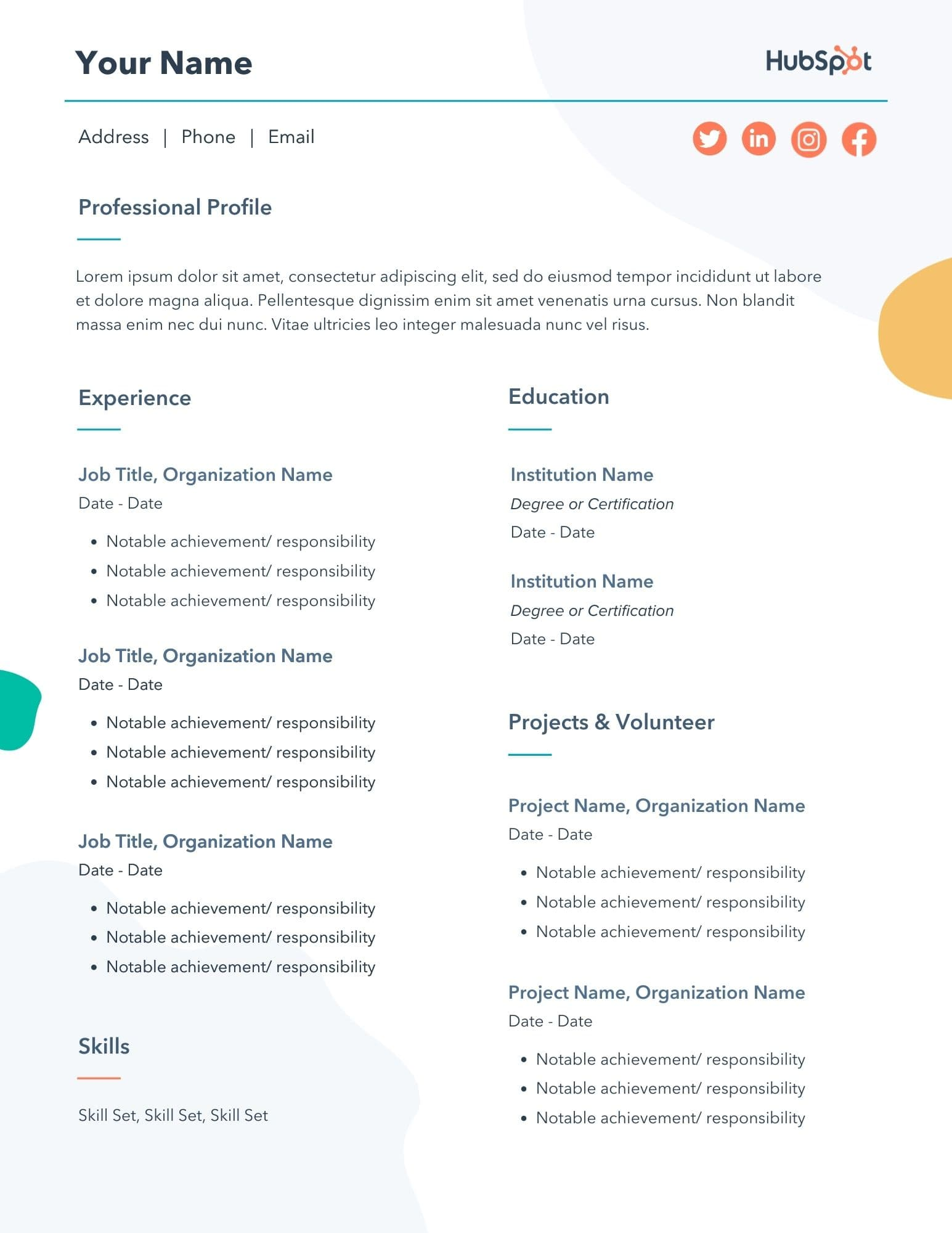 free resume templates for microsoft word to make your own experienced professionals Resume Resume For Experienced Professionals Templates