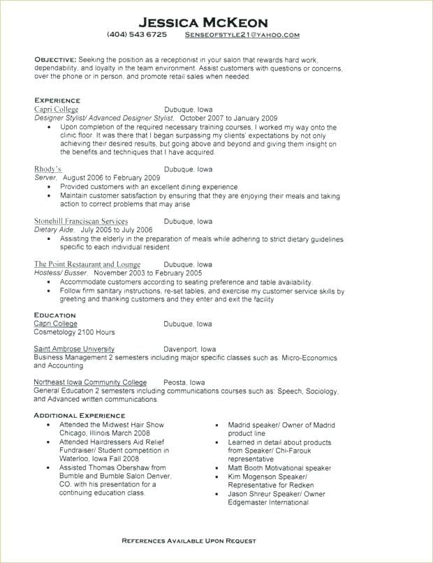free resume templates for receptionist position examples template design chicago booth Resume Chicago Booth Resume Template