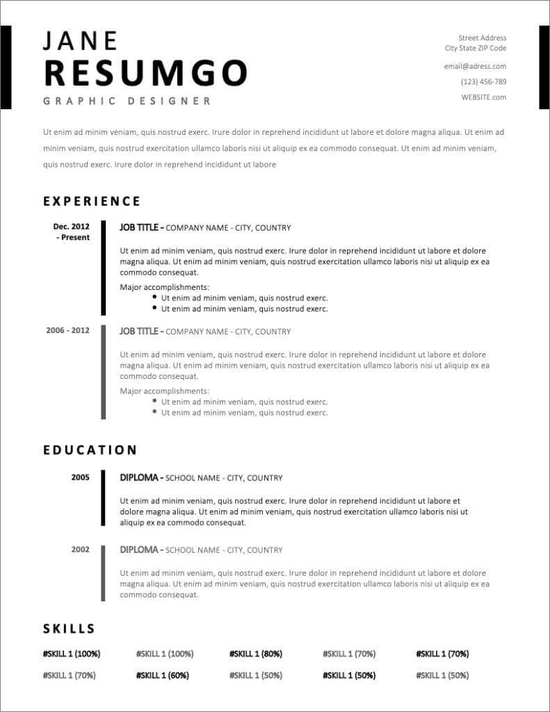 free resume templates for to now professional template new creative infographic example Resume Professional Resume Template Free