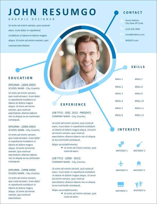 free resume templates for to now professional template new duke fuqua chronological word Resume Professional Resume Template Free