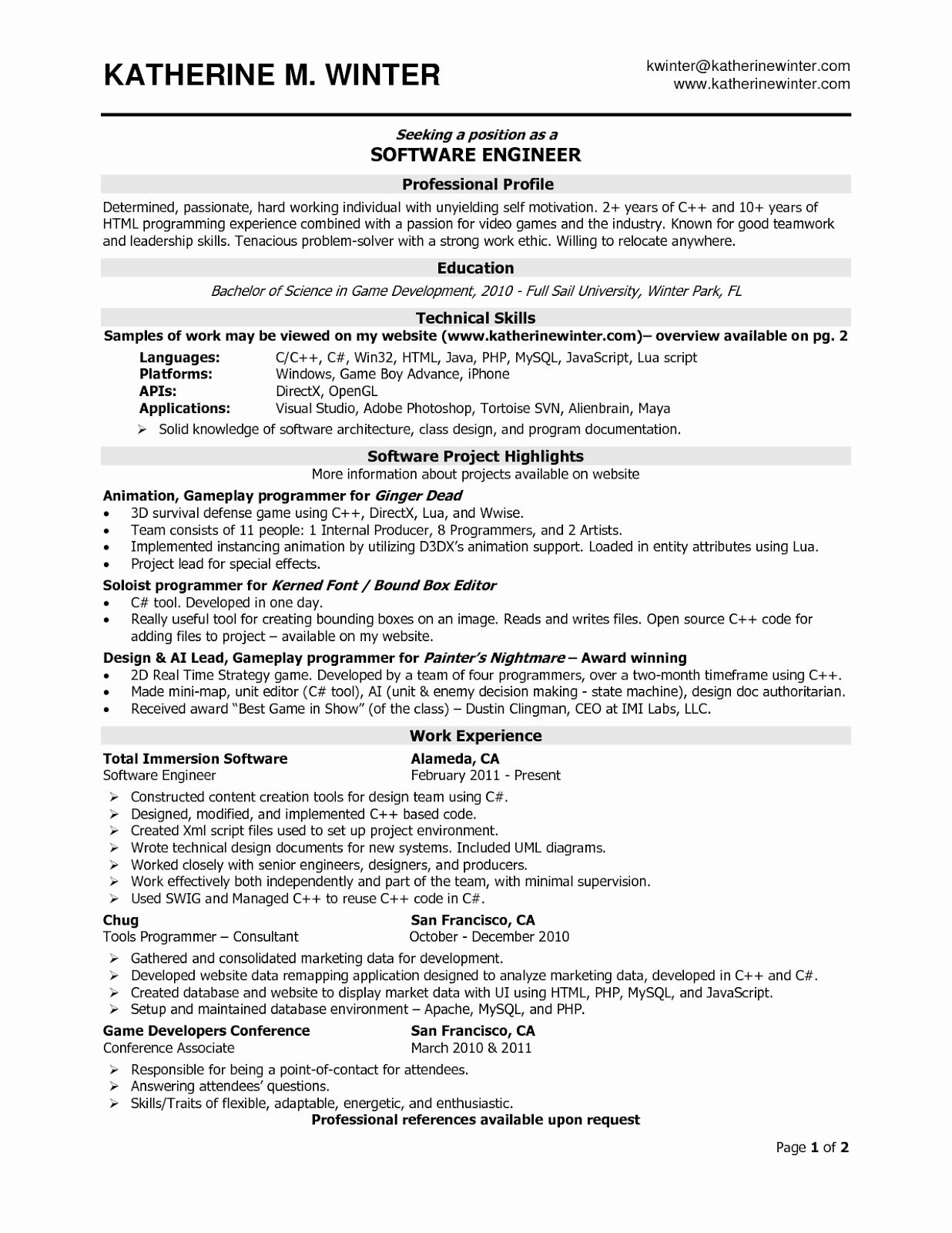 free resume templates sample format cover letter for software developer examples eit help Resume Software Developer Resume Examples 2018