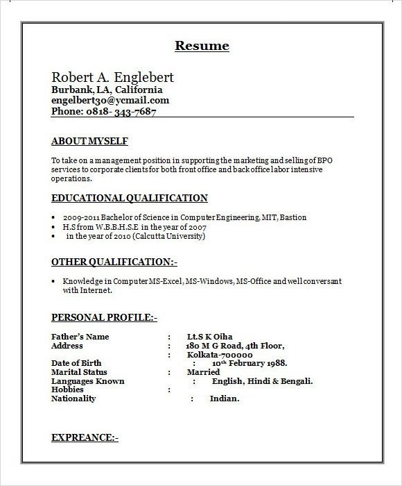 free sample bpo resume templates in ms word pdf for non voice template free1 attractive Resume Sample Resume For Non Voice Bpo