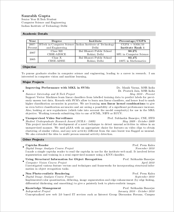 free sample computer science resume templates in ms word pdf for msc freshers fresher Resume Resume For Msc Computer Science Freshers