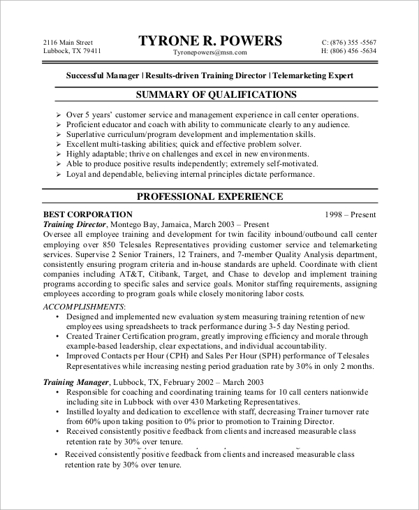free sample customer service resume templates in ms word pdf call center pattern template Resume Call Center Customer Service Resume