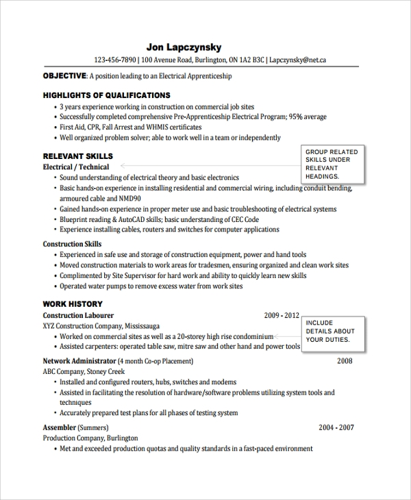 free sample electrician resume templates in pdf ms word template microsoft minimalist Resume Electrician Resume Template Microsoft Word