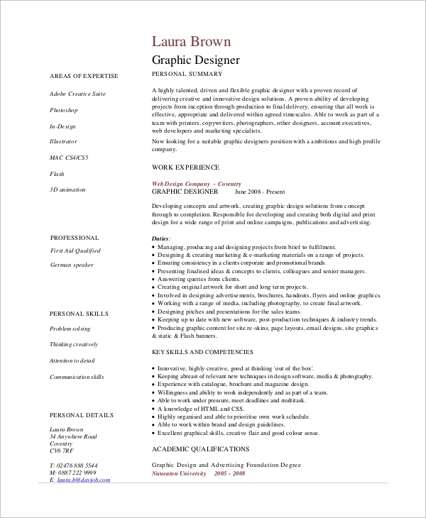 free sample graphic design resume templates in pdf designer objective statements example1 Resume Graphic Designer Resume Objective Statements
