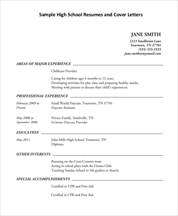 free sample high school resume templates in pdf ms word education examples example Resume High School Education Resume Examples