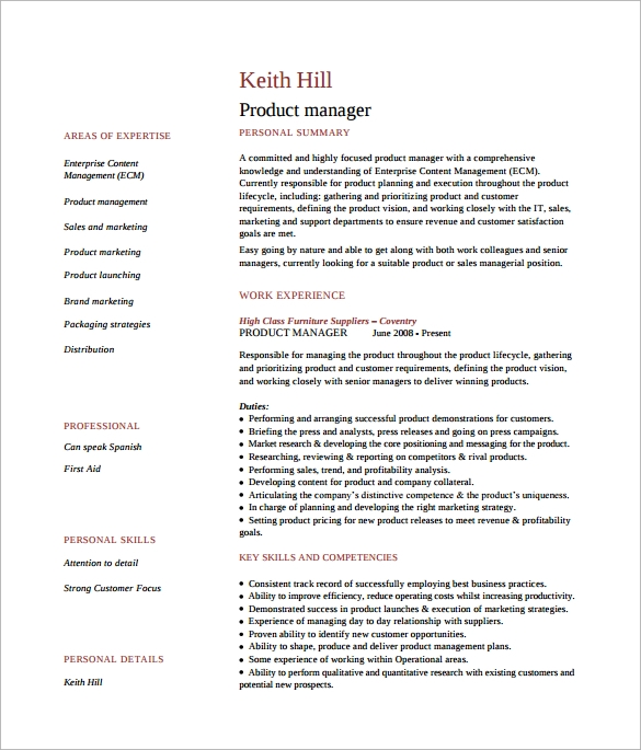 free sample product manager resume templates in pdf ms word production examples template Resume Production Manager Resume Examples
