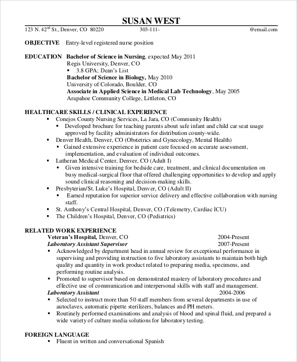 free sample registered nurse resume templates in ms word pdf entry level biotech fresher Resume Registered Nurse Resume Sample