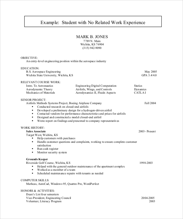 free sample resume for college student in ms word pdf senior samples students with no Resume College Senior Resume Samples