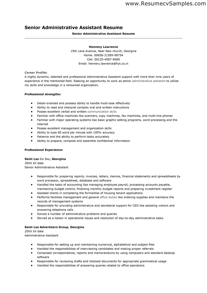 free sample resumes objective on resume for administrative assistant summary example an Resume Resume Summary Example For An Administrative Assistant