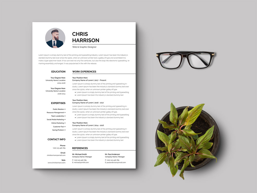 free simple curriculum vitae template for your job interview printing resume adjectives Resume Printing Resume For Interview