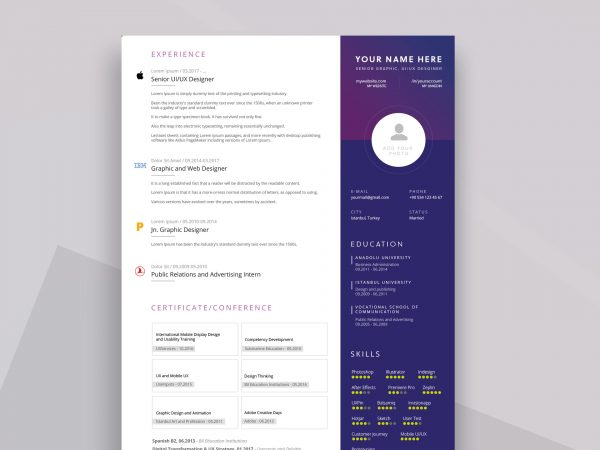 free simple resume cv templates word format resumekraft two template 600x450 contact Resume Two Page Resume Template Word