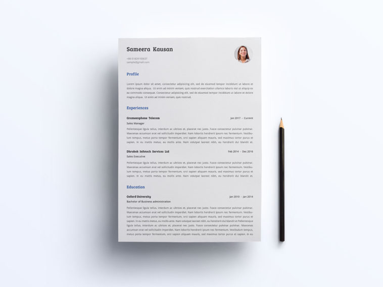 free simple resume template with matching cover letter pivle and templates copy 758x569 Resume Free Matching Cover Letter And Resume Templates
