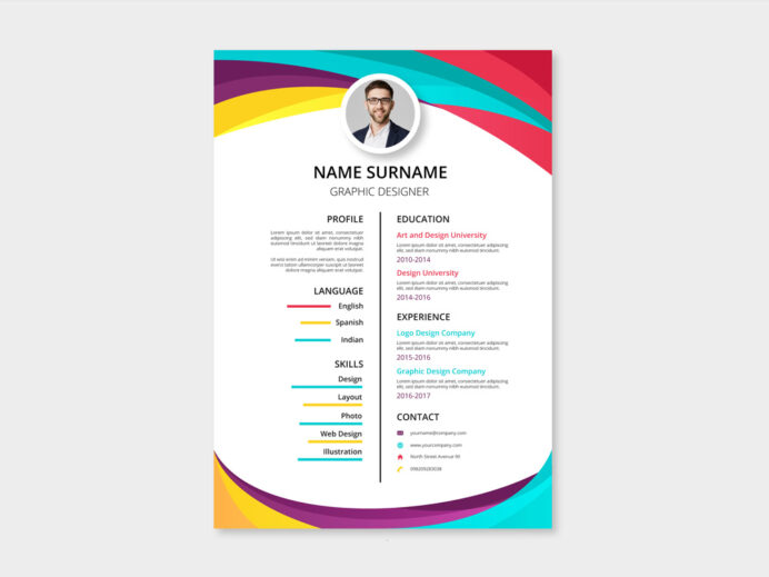 free two column resume template with colorful style design format cna responsibilities Resume Two Column Resume Format