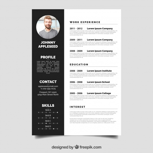 free vector elegant resume template and portfolio supply chain samples accounting manager Resume Resume Elegant Template
