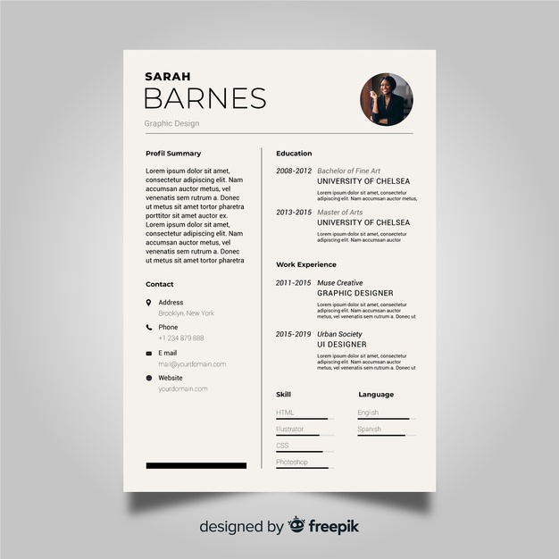 free vector professional cv resume template creative infographic simple good strengths Resume Professional Resume Template Free