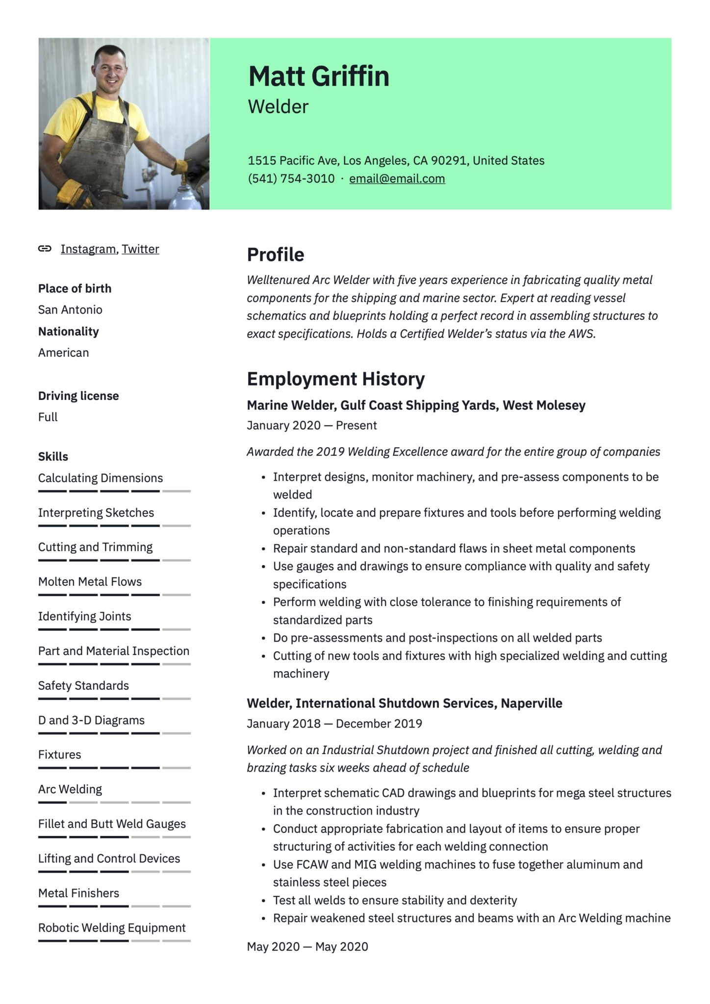 free welder resume examples guide pdf certified example scaled skills for data analyst Resume Certified Welder Resume Example