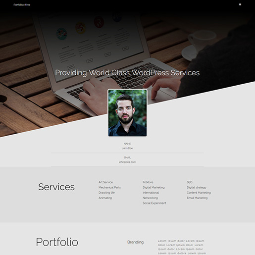 free wordpress resume themes for cv and websites best portfoliooo mba finance experience Resume Best Free Wordpress Resume Themes