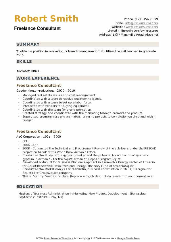 freelance consultant resume samples qwikresume consultation services pdf targeted Resume Resume Consultation Services