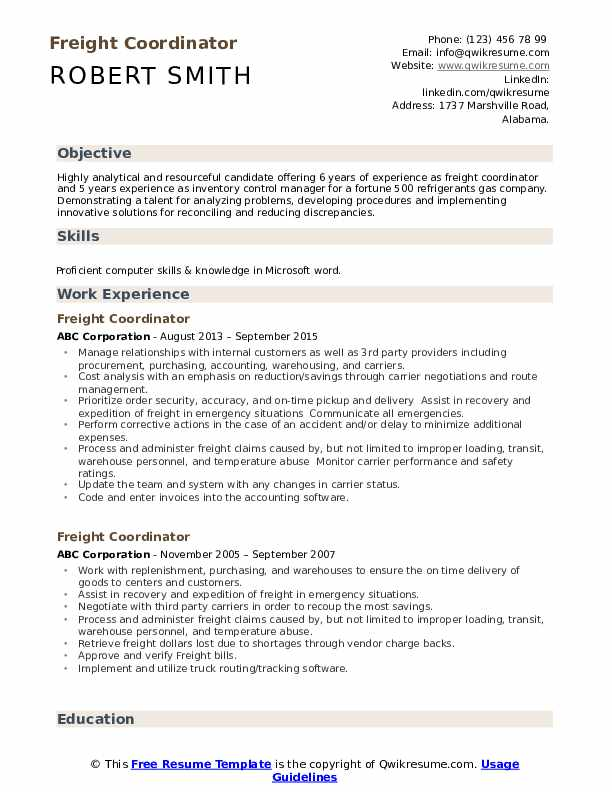 freight coordinator resume samples qwikresume pdf brooklyn college magner center mail Resume Freight Coordinator Resume