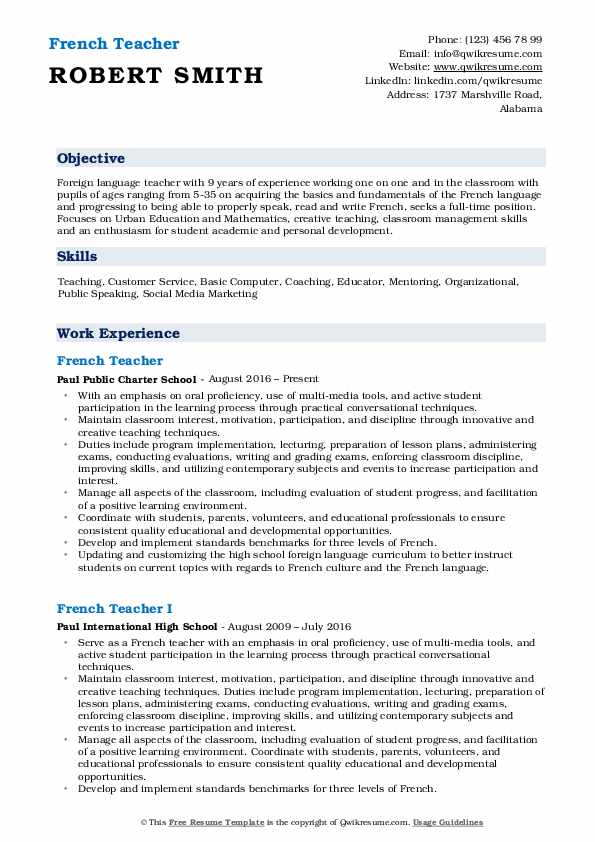 french teacher resume samples qwikresume foreign language pdf penn state template wyotech Resume Foreign Language Teacher Resume