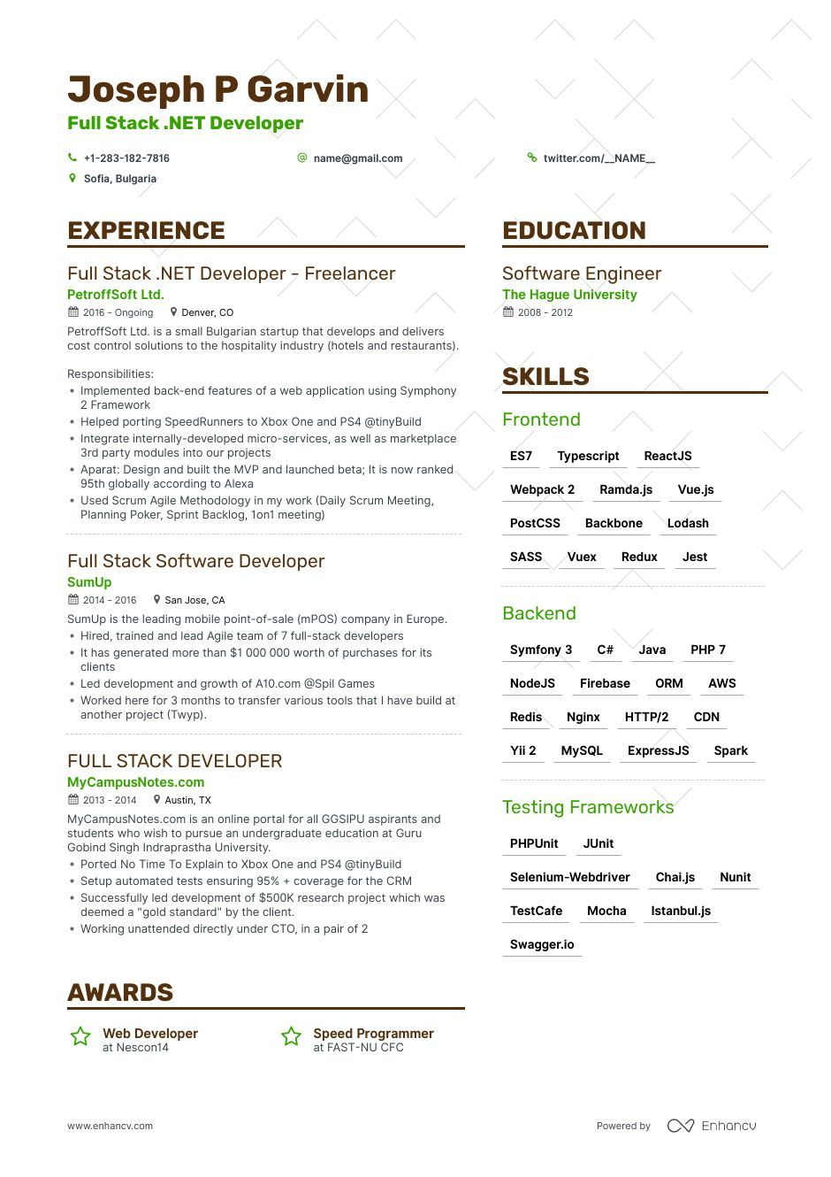 full stack developer resume example expert tips examples mean sample project coordinator Resume Mean Stack Resume Sample