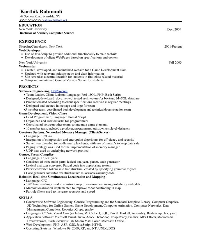 game programmer free resume samples blue sky resumes school projects on before mechanical Resume School Projects On Resume