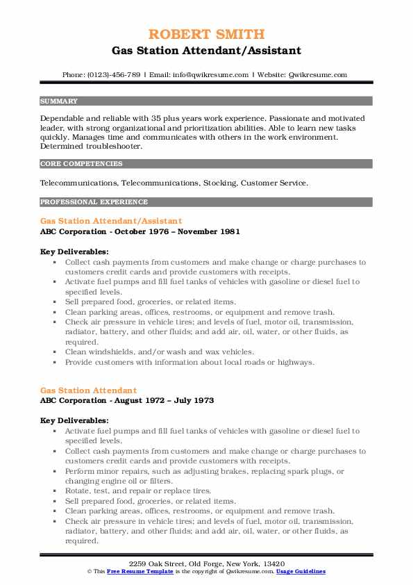 gas station attendant resume samples qwikresume service manager pdf cmo template sample Resume Service Station Manager Resume