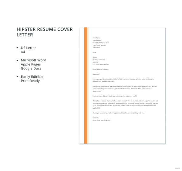 general cover letter templates pdf free premium generic for resume hipster template Resume Generic Cover Letter For Resume