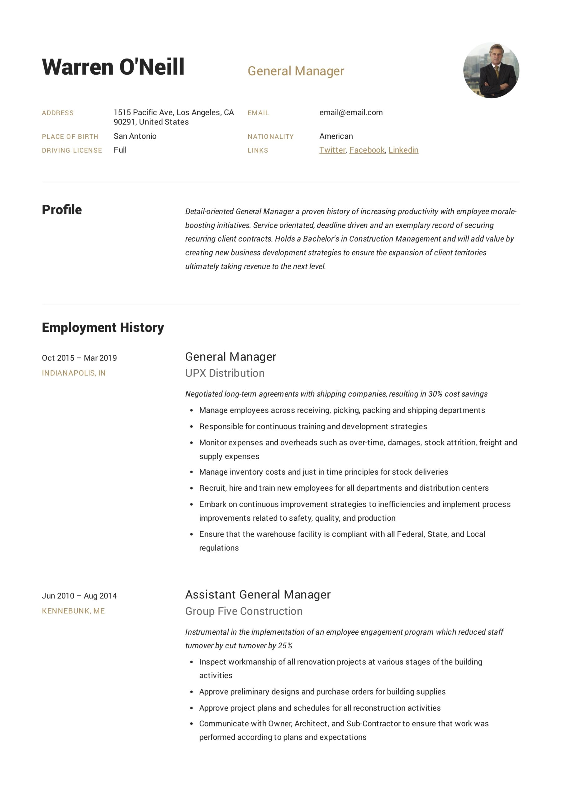 general manager resume writing guide examples pdf hotel template neill microsoft word Resume Hotel General Manager Resume Template