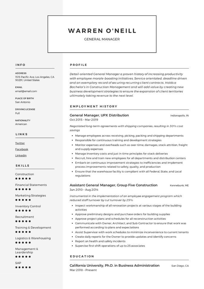 general manager resume writing guide examples pdf skills for neill scoring matrix entry Resume Skills For General Manager Resume