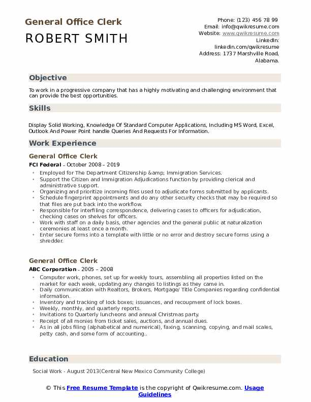 general office clerk resume samples qwikresume entry level objective pdf human rights Resume General Entry Level Resume Objective
