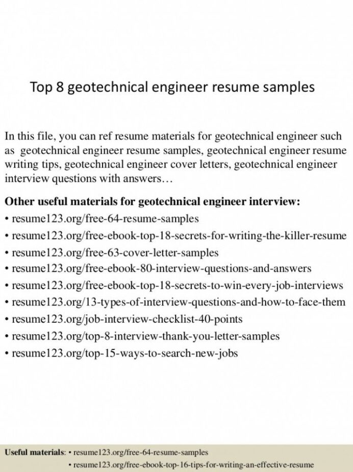 geotechnical engineer resume pdf huroncountychamber materials strong summary for Resume Materials Engineer Resume