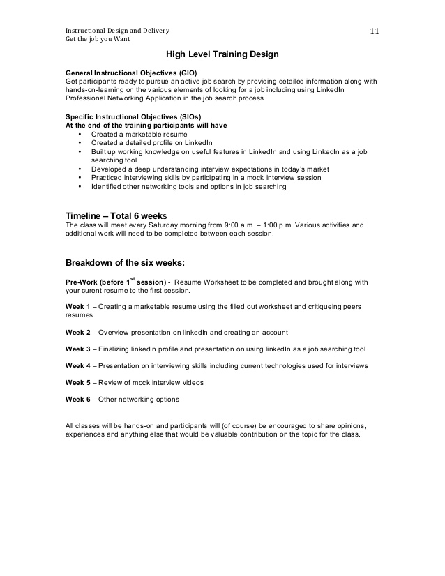 get the job you want training design document on objectives resume best for software Resume On The Job Training Objectives Resume