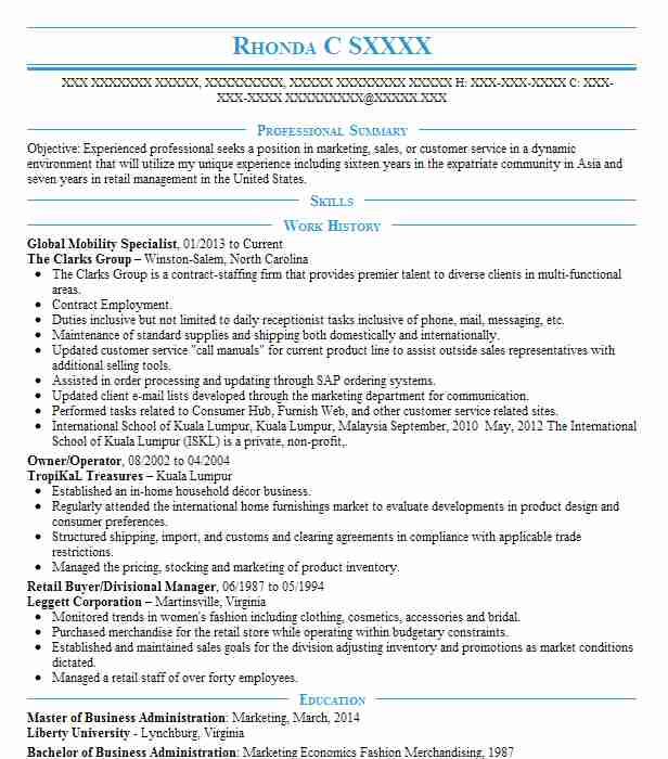 global mobility consultant resume example newmont mining corporation manager entry level Resume Global Mobility Manager Resume