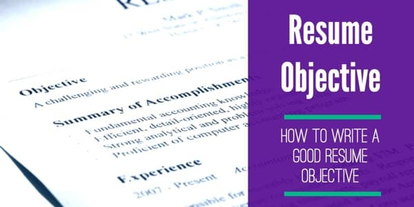 good resume objective to write one and it important purpose of on lawyer examples Resume Purpose Of Objective On Resume