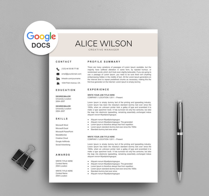 google docs resume templates now sheets template creative teacher mail machine operator Resume Google Sheets Resume Template