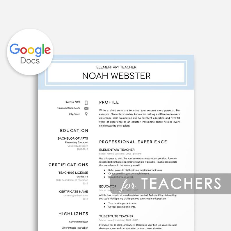 google docs resume templates now sheets template teacher academic advisor skills best Resume Google Sheets Resume Template