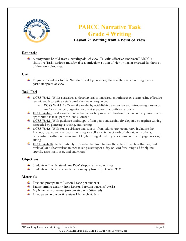 grade nt writing lesson from pov parcc resume plan for high school students issues good Resume Resume Writing Lesson Plan For High School Students