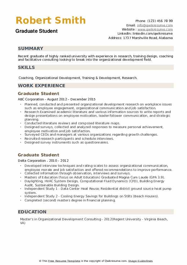 graduate student resume samples qwikresume school template pdf technical project manager Resume Graduate School Resume Template